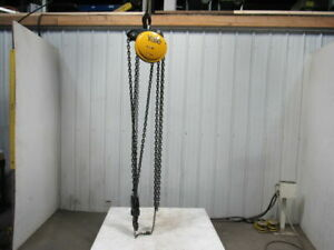 Yale Eaton 5 Ton Manual Chain Fall Hoist 7 9 Lift W load Limiter Tested