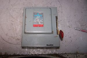 New Challenger 30 Amp Fused Safety Switch 240 Vac 7 1 2 Hp 3 Phase Gd321snc