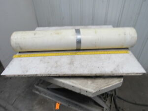 2 ply White clear Polyurethane Smooth Top Conveyor Belt 78 X 49 X 0 065