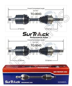 For Toyota Tacoma 4runner 4wd 95 04 Pair Of Front Cv Axle Shafts Surtrack Set