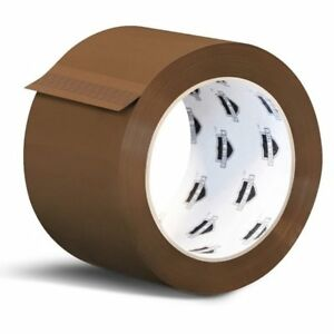 72 Rolls Brown Tan Packaging Packing Tape Shipping 2 inch 2 3 Mil 110 Yards 330