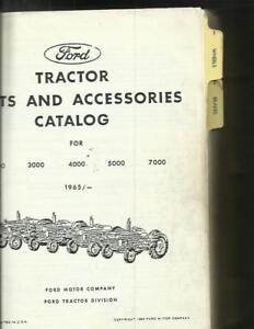 Ford Tractors Parts And Accessories Catalog For 2000 Thru 7000 Tractors Very Nea