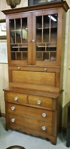 Wonderful Early 1800 S Walnut Secretary Desk Excellent Condition