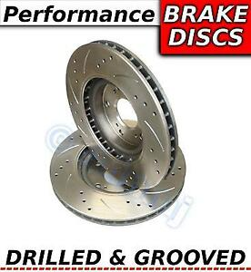 Vw Scirocco 2 0 Tsi 210bhp 12 09 on Drilled Grooved Sport Front Brake Discs