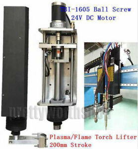 Z axis Flame plasma Torch Lifter Clamp 200mm Cnc Cutting Machine 1605 Ball Screw