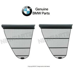 For Bmw E39 Set Rear Left Right Window Shades Quarter Window Dark Gray Genuine