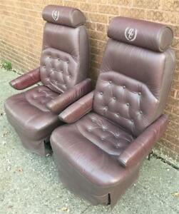 1995 Ford Econo Quality Coach Van Leather Reclining Front Seats Captain Chairs