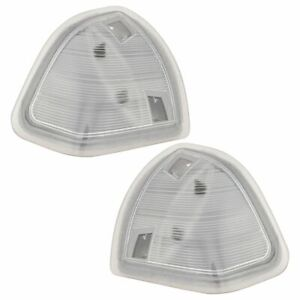 Tow Mirror Turn Signal Clear Lens Pair Set Of 2 For Dodge Ram Pickup Truck New