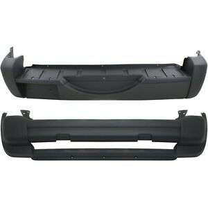 Front Rear Bumper Cover Set For 2005 2007 Jeep Liberty Textured 2 pcs