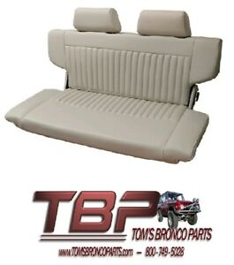 66 77 Ford Bronco Parchment Premium Fold And Tumble Rear Seat