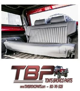 1966 1977 Ford Bronco Black Premium Fold And Tumble Rear Seat