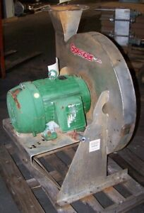 Spencer 15 Hp Stainless Steel Centrifugal Blower 13 1 2 X 7 7 8 460 Vac