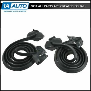 Door Seal Weatherstrip Pair For Buick Chevy Olds 2 Door Hardtop Or Convertible