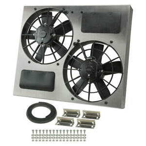 Derale Cooling Fan Assembly 16830 High Output Rad Shrouded 2x11 Dual Electric
