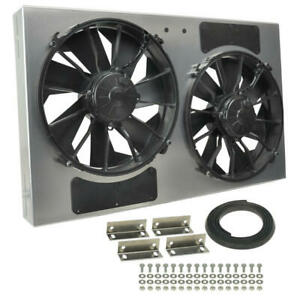 Derale Engine Cooling Fan 16838 High Output Rad Shrouded 2 X 12 Dual Electric
