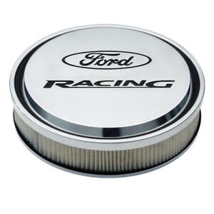 Proform Air Cleaner Assembly 302 383 Ford Racing Polished Aluminum Round 13x3