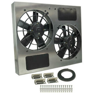 Derale Engine Cooling Fan 16835 High Output Rad Shrouded 2 X 11 Dual Electric