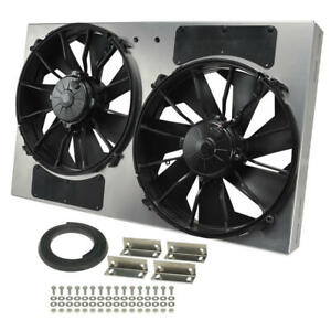 Derale Engine Cooling Fan 16836 High Output Rad Shrouded 2 X 12 Dual Electric