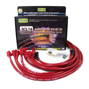 Taylor Spark Plug Wire Set 79227 409 Pro Race 10 4mm Red 90 For Chevy V8