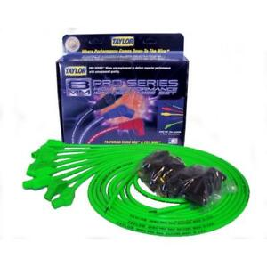 Taylor Spark Plug Wire Set 78553 Spiro Pro 8mm Lime Green 135 Universal