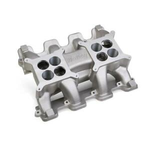 Holley Intake Manifold 300 120 Cathedral Port Dual Quad 1500 7000 For Chevy Ls