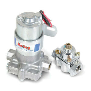 Holley Electric Fuel Pump 12 802 1 Blue 88 Gph 9psi Polished Aluminum Gas