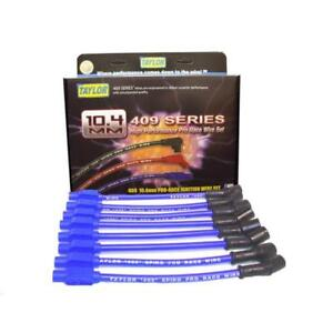 Taylor Spark Plug Wire Set 79605 409 Pro Race 10 4mm Blue Straight For Chevy V8