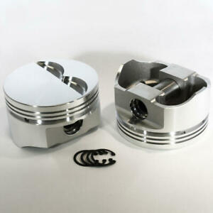Dss Racing Piston Set 8710 4000 E 4 000 Forged Flat For Chevy 383 Sbc Stroker