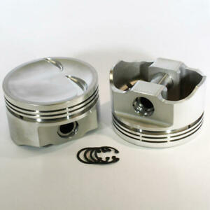 Dss Racing Piston Set 8723 4000 E 4 000 Bore Forged Dish For Ford 302 Sbf