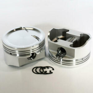 Dss Racing Piston Set 8763 4060 E 4 060 Forged Dish For Ford 408w Sbf Stroker