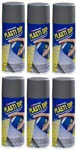 Plasti Dip Performix 11221 6pk Gun Metal Multi purpose Rubber Coating Aerosol