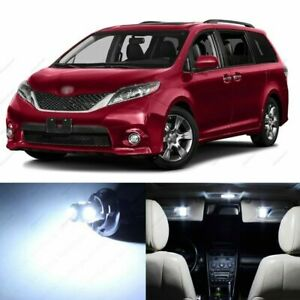 19 X White Led Interior Lights Package For 2011 2019 Toyota Sienna Tool