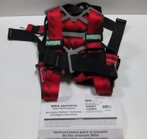 Msa Technacurv Vest Style Harness With Qwik fit Chest Strap Buckle Back D ring