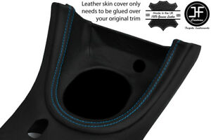 Blue Stitch Manual Shift Bezel Surround Leather Cover For Ford Mustang 1999 04
