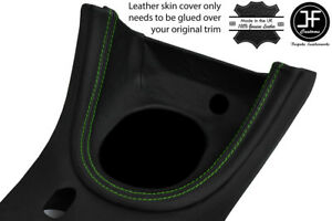 Green Stitch Manual Shift Bezel Surround Leather Cover For Ford Mustang 1999 04