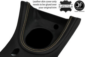 Beige Stitch Manual Shift Bezel Surround Leather Cover For Ford Mustang 1999 04