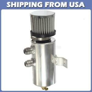 Brushed Baffled Aluminum Oil Catch Can With Breather Filter 10 An 750ml