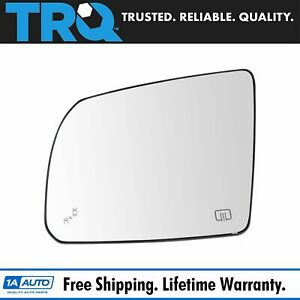 Mirror Glass Heated Blind Spot Detection Driver Side Left Lh For Toyota Tundra