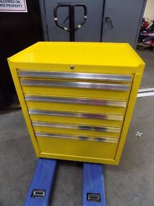 Kennedy Tool Box Roller Cabinet 6 drawer 39 X 27 X 18 Steel Yellow 2702mpyw