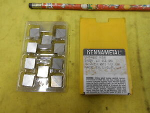 10 Kennametal Sng 422 Indexable Carbide Inserts Lathe Mill Tool Bits Grade K68