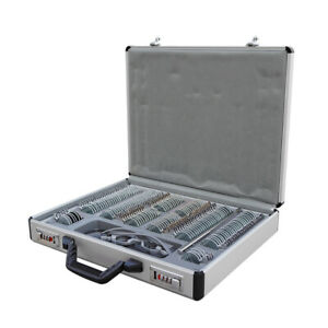 New 158 Pcs Optical Trial Lens Set Plastic Rim 1 Pc Trial Frame aluminium Case
