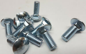 Pack Of New 10 Bright Cadmium Plated 1 X 3 8 Nc Thread Carriage Style Bolts