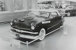 1951 Ford Chopped Convertible Custom Rod 12 X 18 Black White Picture