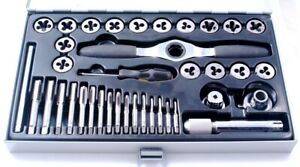 38 Piece Metric Sae Nc Tap Die Set With Ratcheting Wrench 1011 0138