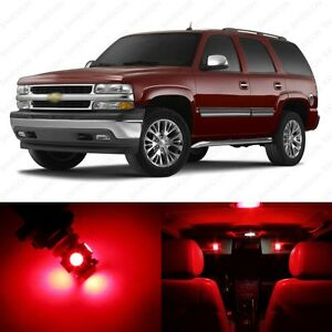 18 X Red Led Interior Light Package For 2000 2006 Chevy Tahoe Pry Tool