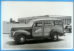 12 By 18 Black White Picture 1939 Ford Woody Station Wagon