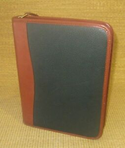 Classic desk 1 Rings Brown green Leather Day timer Planner binder Franklin