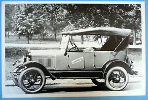 1926 1927 Ford Model T Touring Top Up Side View 12 By 18 Black