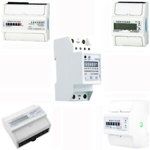 Three Single Phase Four Two Wire Power Kwh Energy Sub Meter Din Rail Mount