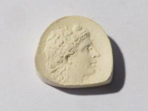Antique Intaglio Tassie Head Of Maenad Plaster Grand Tour Seal 60